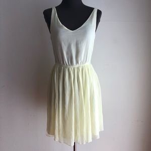 Zara sz S yellow flare dress